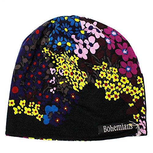 (ボヘミアンズ) Bohemians『W-CAP -HOLE FLOWER-』(BLACK) (3.S-C, BLACK)