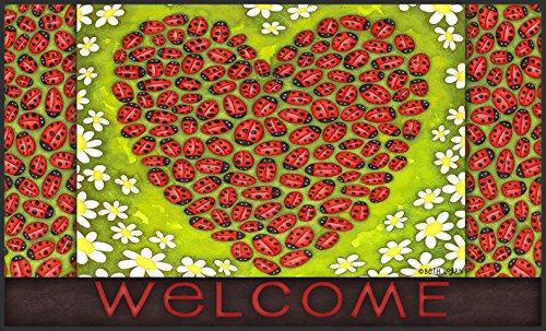 Toland Home Garden Ladybug Heart 18 X 30 Inch Decorative
