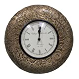 Interio Crafts Flower Glass Wall Clock 12 Inches*12 Inches