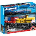 Playmobil - 5258 - Jeu de Construction - Train Porte-Conteneurs Radio-Command�