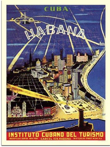 Cuba, Habana, Travel Poster (30x40cm Art Print)