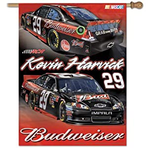 Kevin Harvick Official NASCAR 27x27 Banner Flag by Wincraft by WinCraft