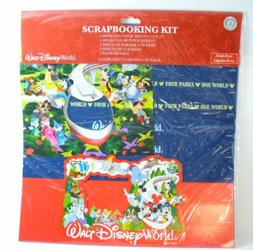 Walt Disney World Four Parks One World Scrapbook Kit 12