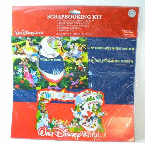 Walt Disney World Four Parks One World Scrapbook Kit 12