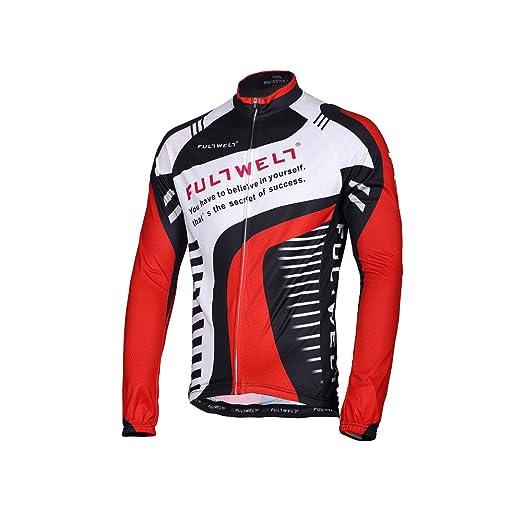 Anself Hommes ensemble de vêtement de sport Vêtements Cyclisme vélos jersey à manches longues + pantalon long respirant