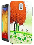 New High Quality Fashion Colorful Tree Abstract Oil Painting Design Phone Cases For Samsung Galaxy Note 3 No.2