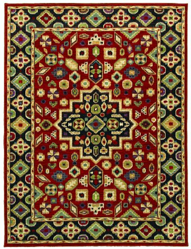 Shaw Living Mirabella Area Rug Collection In Cartagena Red, 2-Feet 6-Inch By 8-Feet front-69508