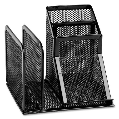 Rolodex 22171 Wire Mesh Desk Organizer, Black