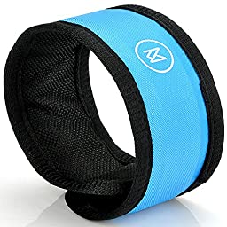 LED Safety Slap Bracelet Armband for Cycling Jogging Walking with Blinking Modes from Minisuit Sporty