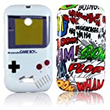 Nokia Lumia 510 TPU SILICON 2x SET GAMEBOY + COMIC Design protection phone Case bag cover Bumper thematys®