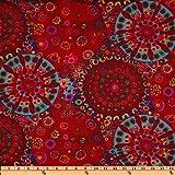 45'' Wide Kaffe Fassett Millefiore Red Fabric By The Yard