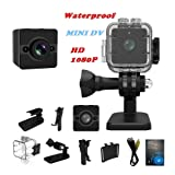 Sansnail Mini Camera SQ12 Sports HD DV Camcorder 1080P Night Vision Wide Angle FOV155 Small Surveillance Camera 30 meters waterproof for Home Office Outside