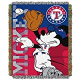 TEXAS RANGERS MLB MICKEY TAPESTRY THROW (48X 60)
