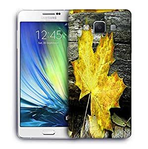 Snoogg Yellow Leaf Designer Protective Phone Back Case Cover For Samsung Galaxy A7