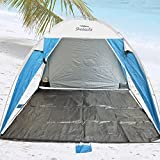 Platinum Plus Sun Beach Shelter UPF 100+ Jumbo Size Up for 4 persons with Removable Floor