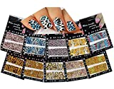 Nail Art Water Slide Tattoo Decals ♥ Full-Cover ♥ Animal Patterns, 10 - pack ♥ /CXVII/