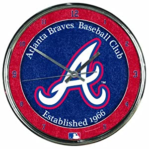 MLB Atlanta Braves Chrome Clock by WinCraft
