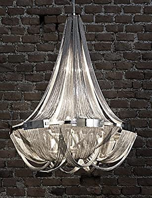 qiuxi High-end fashion Interior Ceiling lamp Aluminum Stream Chandeliers, E12/E14/Designer Pendant Lights/Silver or Gold/Living Room/ Stainless , 110-120v-gold