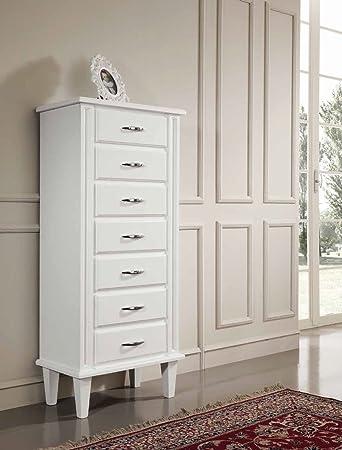 Settimino cassettiera in legno - Bianco