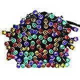 リーダーテク(lederTEK) ソーラー 防雨防水型 カラー 電飾 イルミネーション LED 22m 200球 8点滅モデル クリスマス ライト 新年 飾り付け
