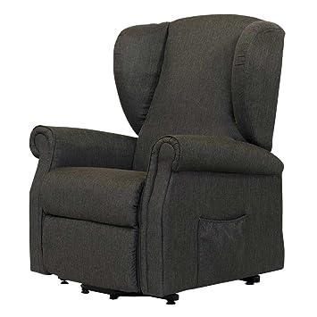 TV Sessel in Grau Elektrisch mit Aufstehhilfe Pharao24