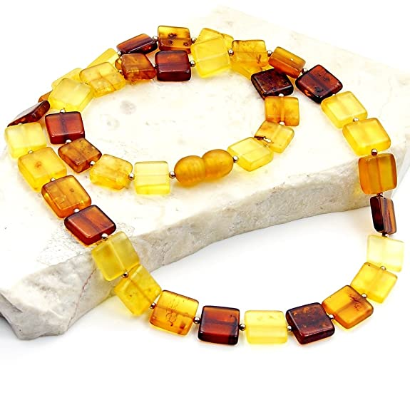 Natural Healing Multicolor Baltic Amber Beaded Necklace
