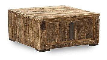Sit-Möbel 6194-01 sofá mesa baúl Thar, madera VIEJA RECICLADA, 85 x 40 cm, marrón