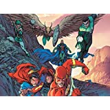 Posterhouzz Comics Flash Superman Green Lantern Hawkman HD Wallpaper Background Fine Art Paper Print Poster