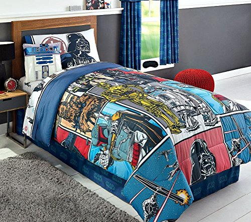 NEW! Modern Star Wars Classics Twin Comforter, Sheets, Pillow Cases Bedding Set and Exclusive Linens N Beyond LED Simple Touch Key Chain