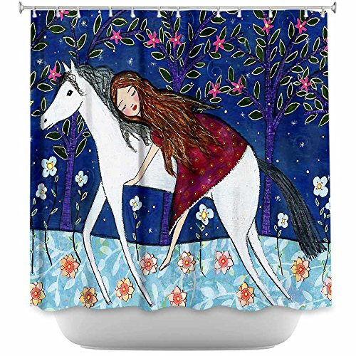 DiaNoche Designs Shower Curtains by Arist Sascalia Unique, Cool, Fun, Funky, Stylish, Decorative Home Decor and Bathroom Ideas - Horse Dreamer