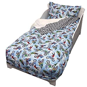 Amazon Com Freestyle Motocross 4 Piece Toddler Bedding