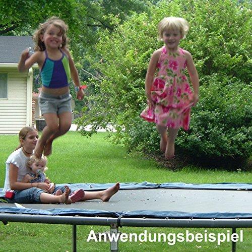 Trampolin Sprungmatte 4,6m 15ft 108Ösen schwarz Sprungtuch Ersatz