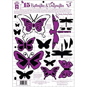 "Hot Off The Press Templates 8.5""X11""-15 Butterflies & Dragonflies"