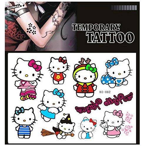 SYZ Beauty Waterproof Temporary Tattoos Lovely Hello Kitty Tattoos