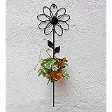 Green Gardenia Iron Wall Sun Flower With Bucket-Yellow