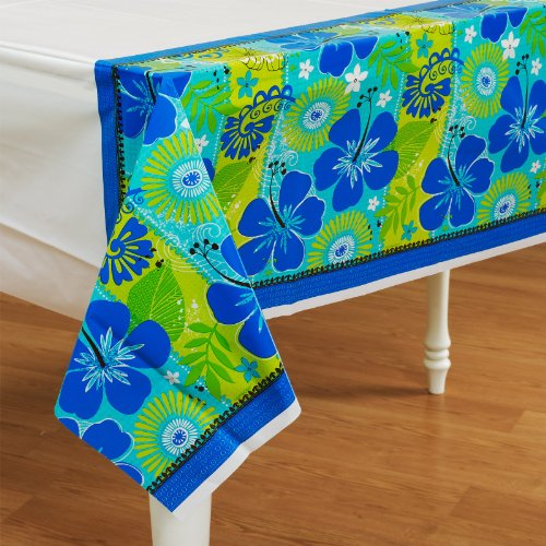 Amscan - Tropical Breeze Plastic Tablecover - Standard - 1