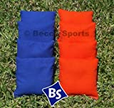 Cornhole Bags Set - 4 Orange & 4 Royal Blue