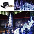 {New Version Solar Powered} 150 Led 72 Feet String Lights Starry Lights, Solar Fairy String Lights Ambiance Lighting for Outdoor, Gardens, Homes, Christmas Party-- 2 Modes (Steady on / Flash)