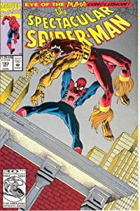 The Spectacular Spider-Man #193 : Over the Edge (The Eye of the Puma - Marvel Comics) by J.M. DeMatteis, Danny Fingeroth, Sal Buscema and Bob Sharen