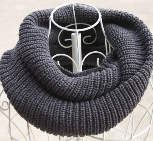 Elegant Solid Color Circle Infinity Loop Scarf - Different Colors Available