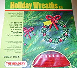 The Beadery Holiday Wreaths Kit Makes 12