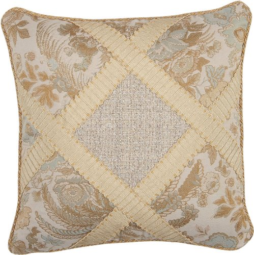 Jennifer Taylor St. Lucia Collection Pillow, 16-Inch by 16-Inch