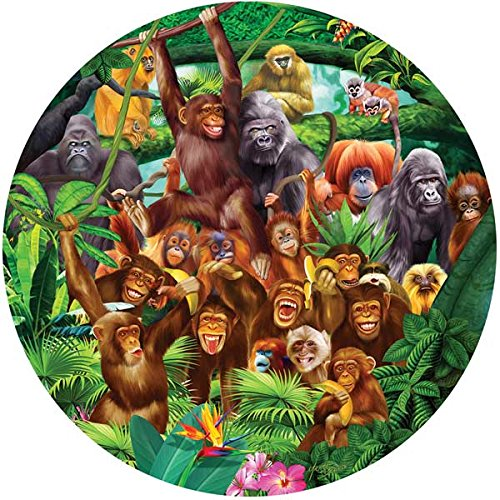 SunsOut Monkey Lane Round Jigsaw Puzzle (100-Piece)