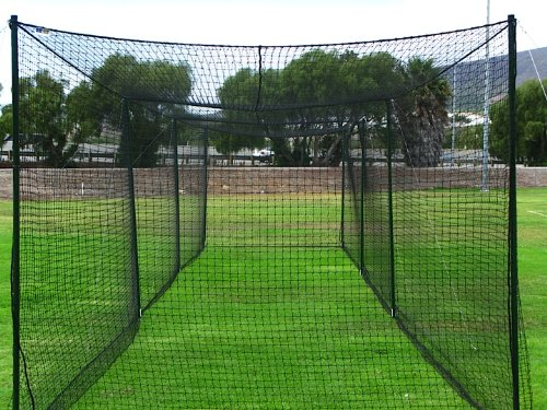 Ultimate Baseball Batting Cage [Net & Poles Package] - #42 Heavy Duty Net with Steel Uprights [Net World] 24hr Ship - (20', 35', 55', 70') (35' Batting Cage Package) (Batting Cage Package compare prices)