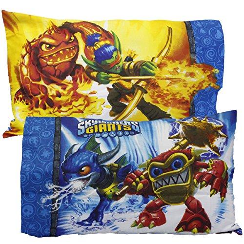 2pc Skylanders Giants Pillowcase Set Spyro Sky Friends Pillow Covers Bedding Accessories