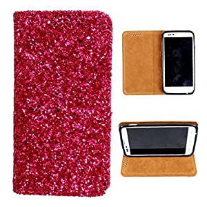 i-KitPit Sparkling PU Leather Flip Case For Micromax Bolt A35 (PINK)