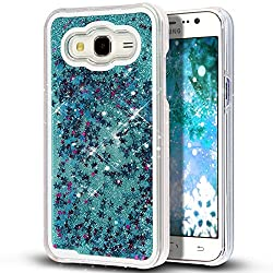 Darrel Samsung galaxy j7 Liquid star Glittering blue hard back cover