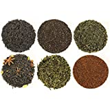 Tea Traveler Tea Sampler, Teas From Around the World, Features Indian Chai, Chinese Sencha, Moroccan Mint, and More + 100+ Empty Drawstring Tea Bags