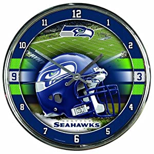 NFL Seattle Seahawks Chrome Clock by WinCraft