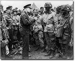 General Dwight Eisenhower with Troops WWII 11x14 Museum Silver Halide Photo Print